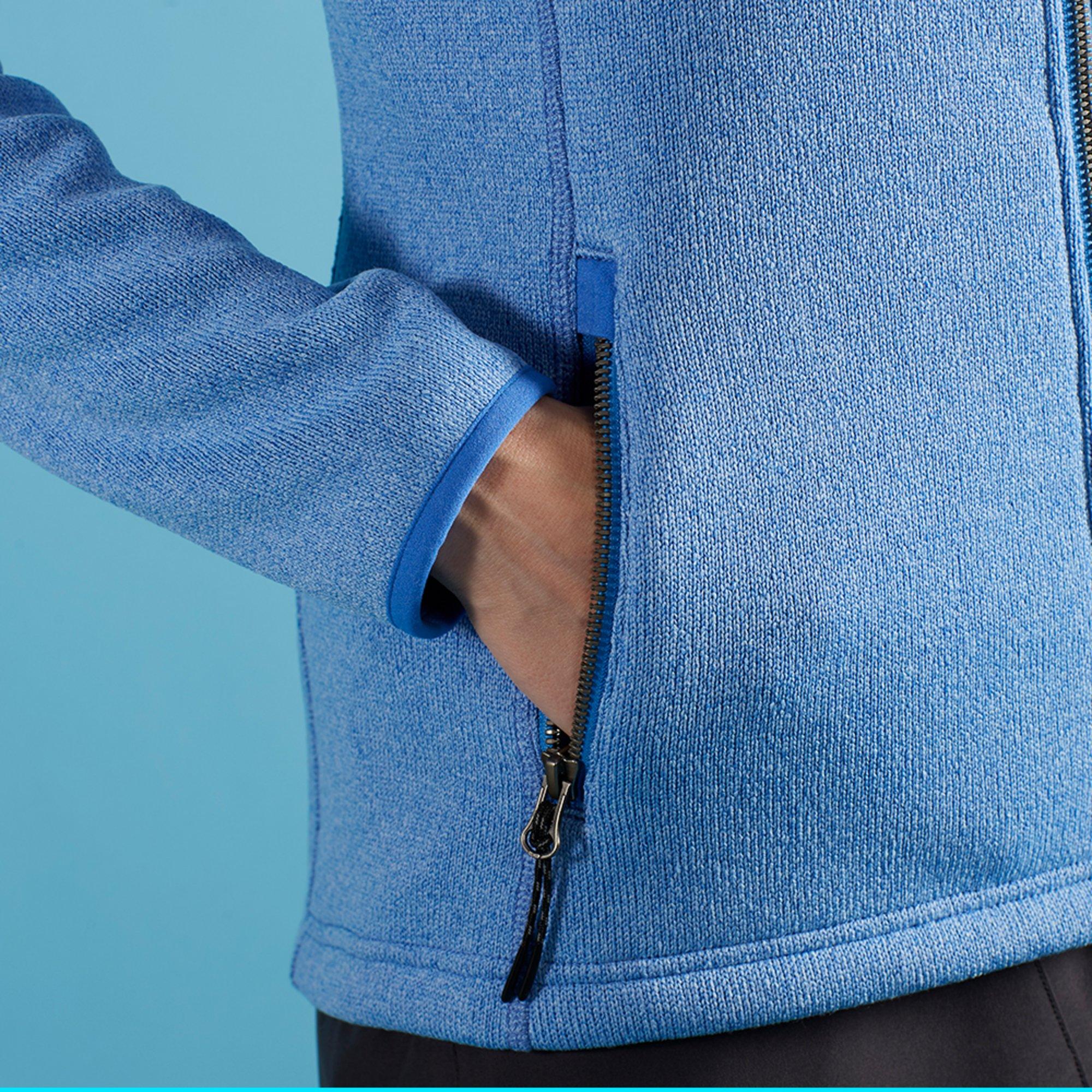 Women's Knit Fleece Jacket - 1493W-BLU18-MODEL-3.jpg