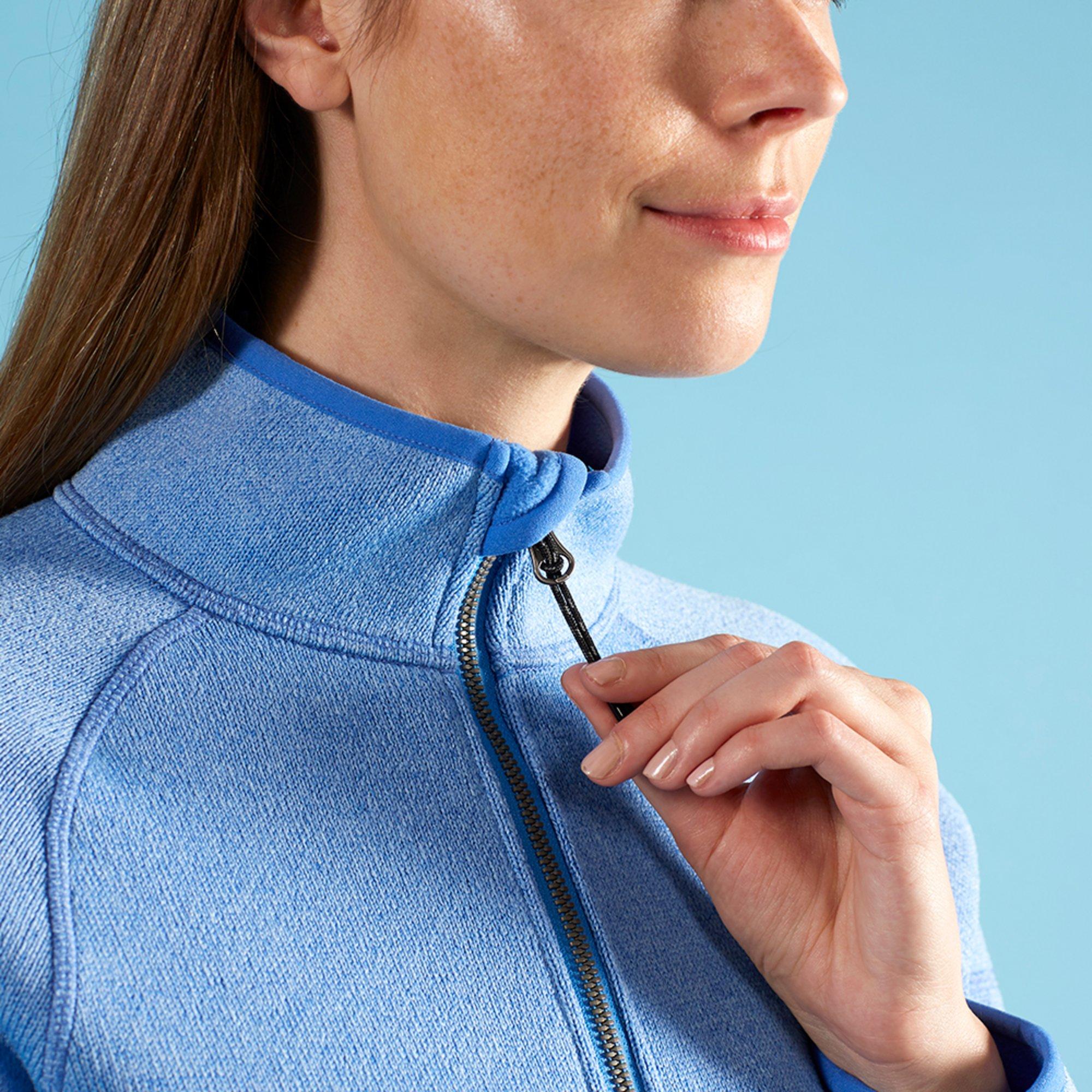 Women's Knit Fleece Jacket - 1493W-BLU18-MODEL-2.jpg