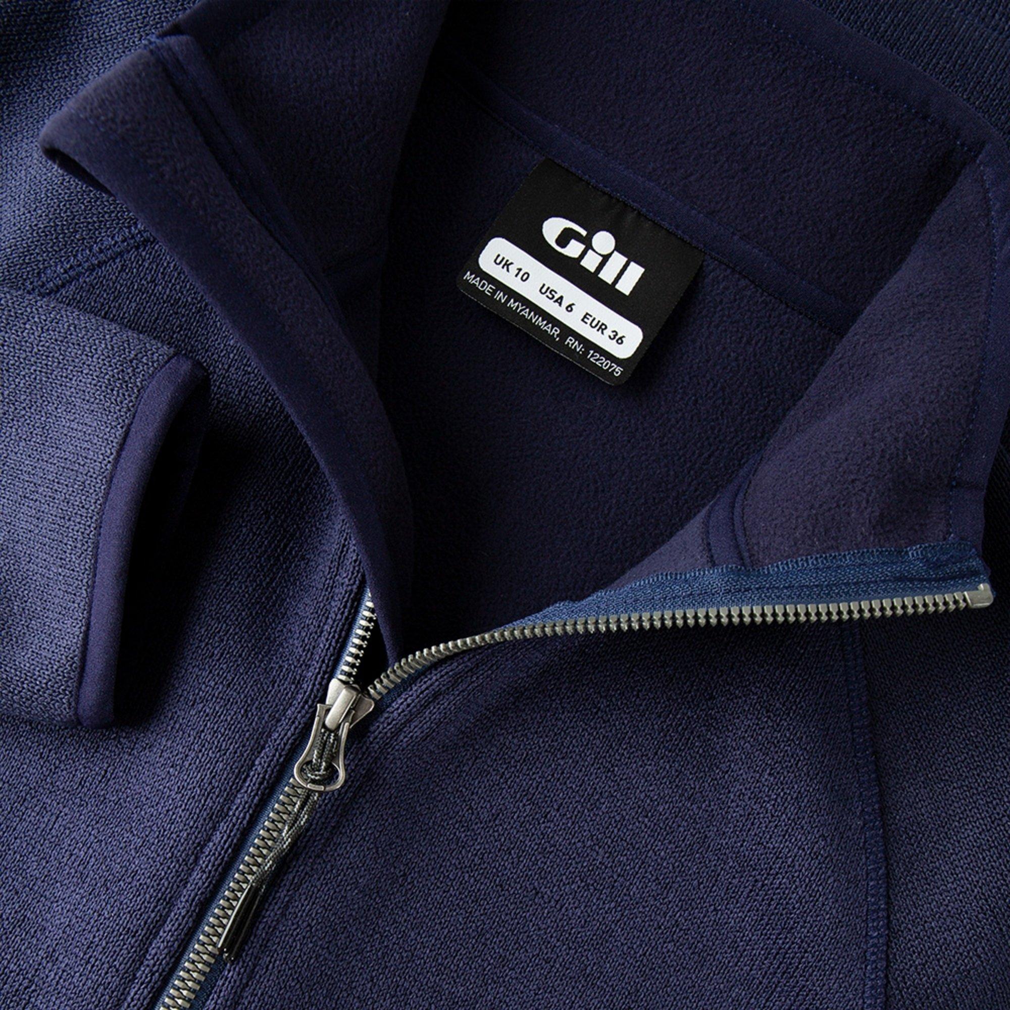 Women's Knit Fleece Jacket - 1493W-NAV06-5.jpg