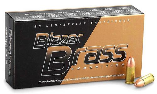 9MM 1000 Round Case (Blazer Brass) 124gr.