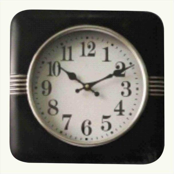 7Q0672 Black Square Hanging Clock