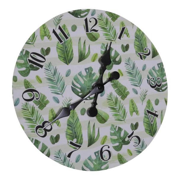 731510 Wall Clock - Green Leaves