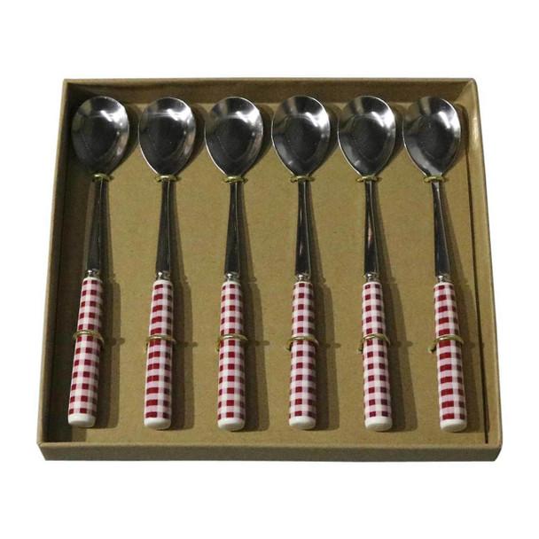 RL3 Cutlery - Cake Spoons - Red Checks