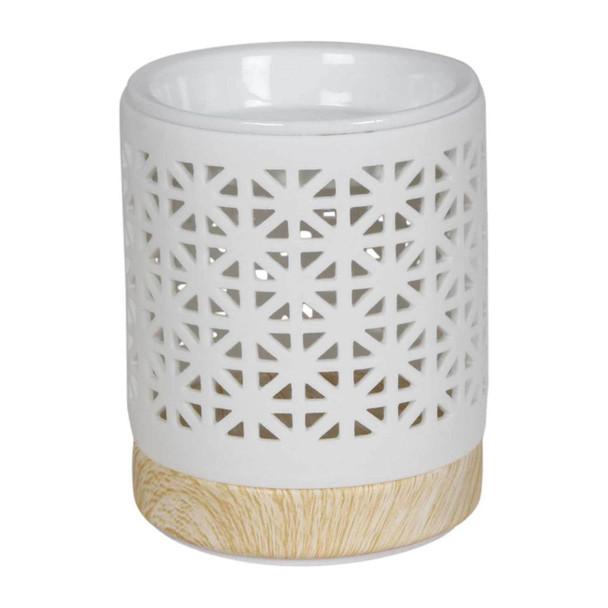76775D White Ceramic Burner - Diamonds