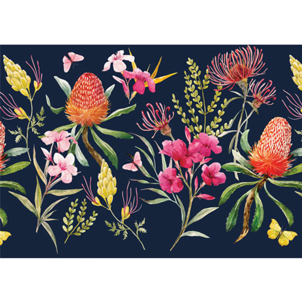 PVCPFLORAL02 PVC Table Placemats - Collection Of Flowers