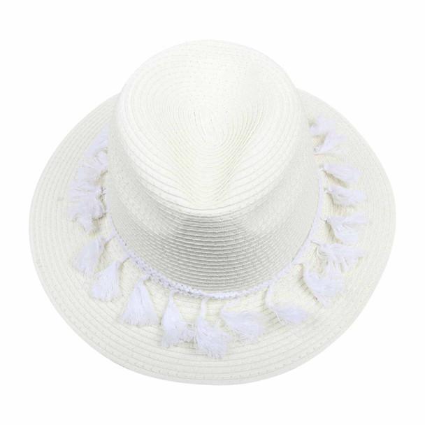 ST3HA White 75cm Knitted Hat