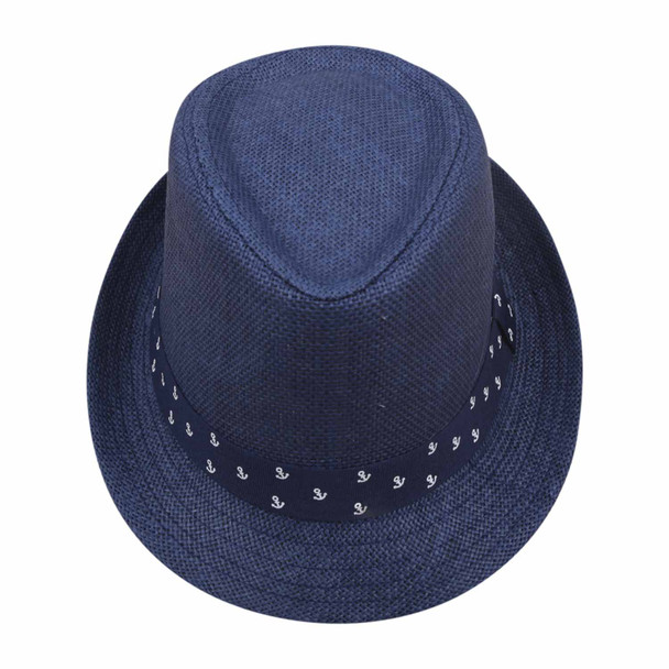 ST6HB Blue 75cm Knitted Grass Hat