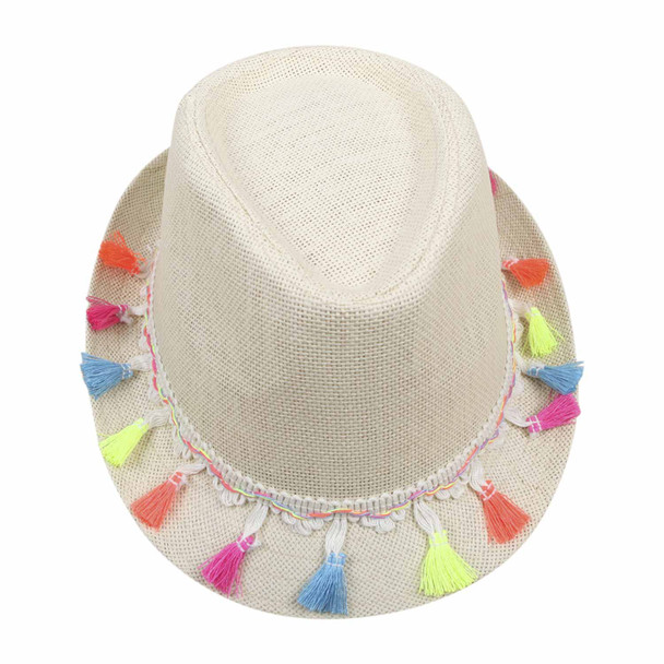 ST7HA Cream 75cm Knitted Grass Hat