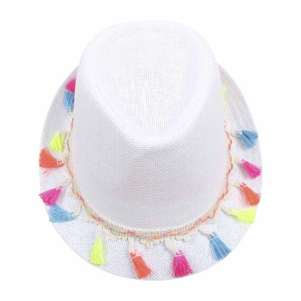 ST7HC White 75cm Knitted Grass Hat