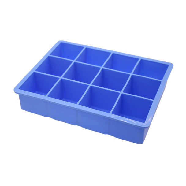 SIC005A Blue Silicone Ice Cube - 12 Cubes