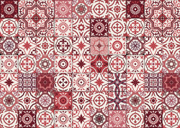 PLACEML34 Disposable Placemats - Red Tiles