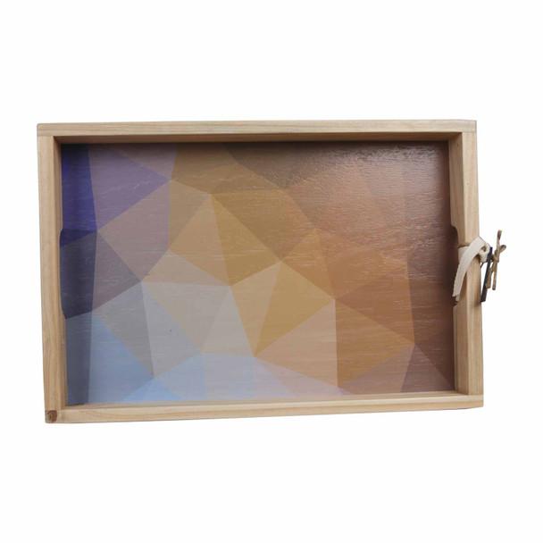 TRAYGEO19 Wooden Tray - Geometric