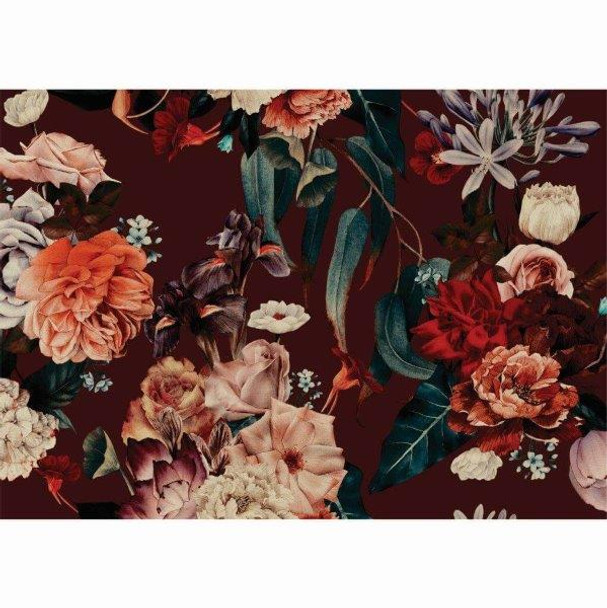PVCPFLORAL04 PVC Placemat - Dark Floral