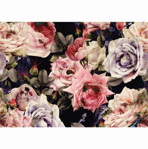 PVCPROSE02 PVC Placemat - Dark Roses