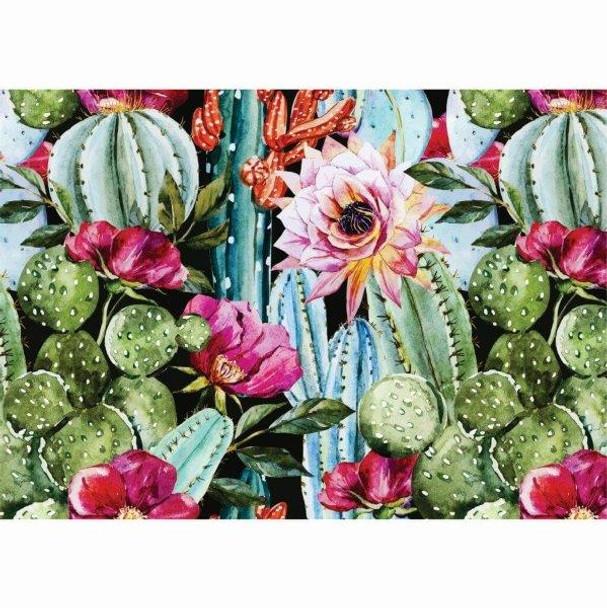PVCPCACTUS01 PVC Placemat - Blooming Cactus