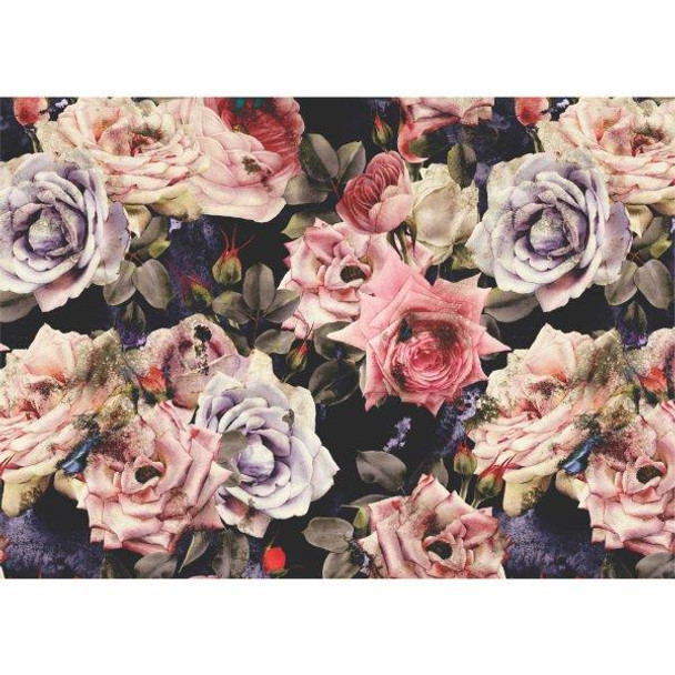 PLACEML40 Disposable Placemats - Roses