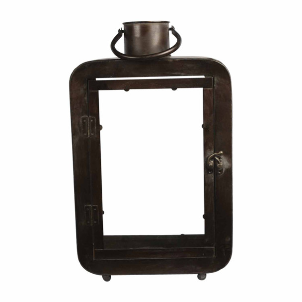 T190026C0B5 Large Brown Metal Candle Holder