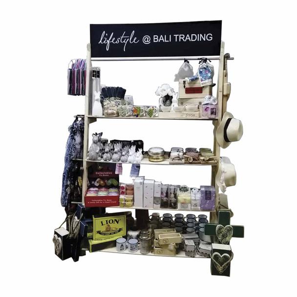 PPAWO Lifestyle At Bali Trading Shelf With Merchandise