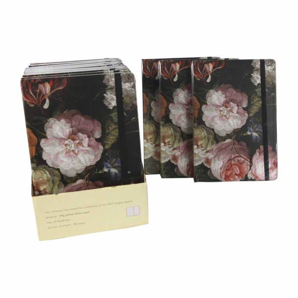 BGRMA5Z Set12 A5 Notebooks - Peonies