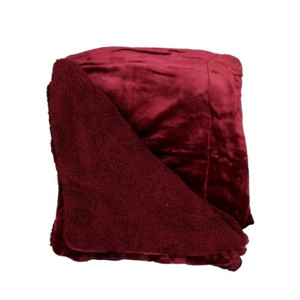 BD1E Queen Sized Serpa Blanket - Wine Red