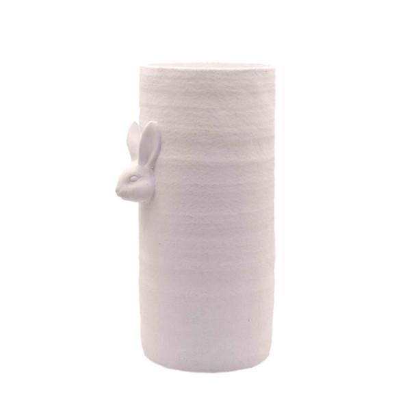 15436SA584A Small Tall White Ceramic Vase