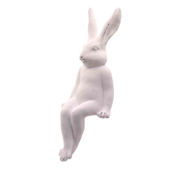 15254LA584 Large White Ceramic Sitting Bunny