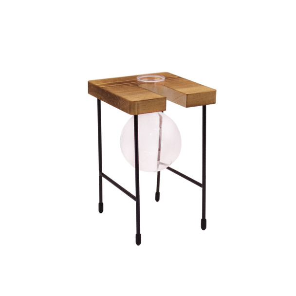 WSA1 One Glass Vase Wooden Stand
