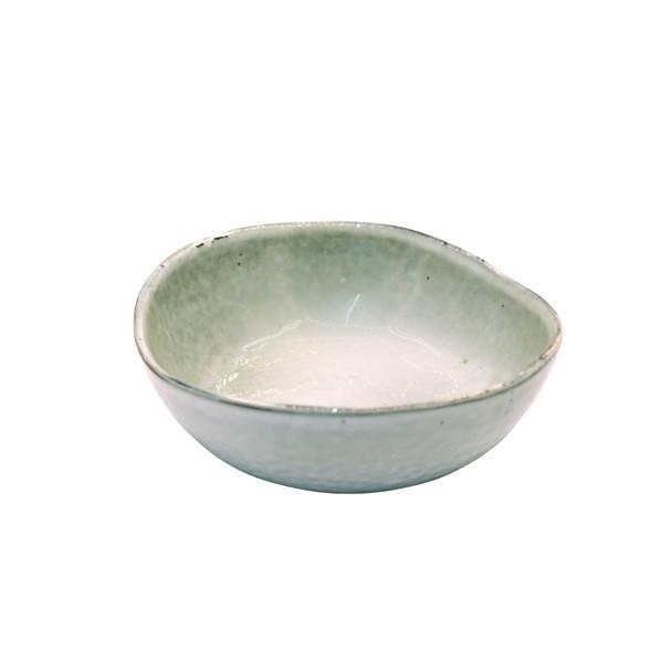 TM21ST0405051 Beige And Grey Ceramic Pasta Bowl