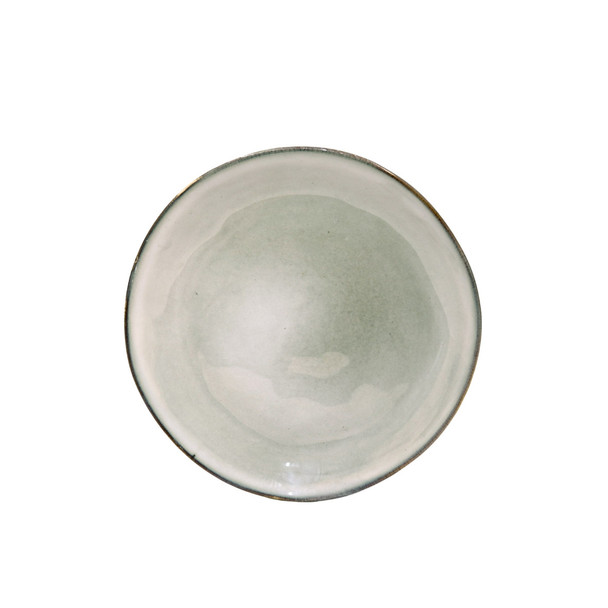 TM21ST0405071 Off White And Grey Ceramic Side Plate