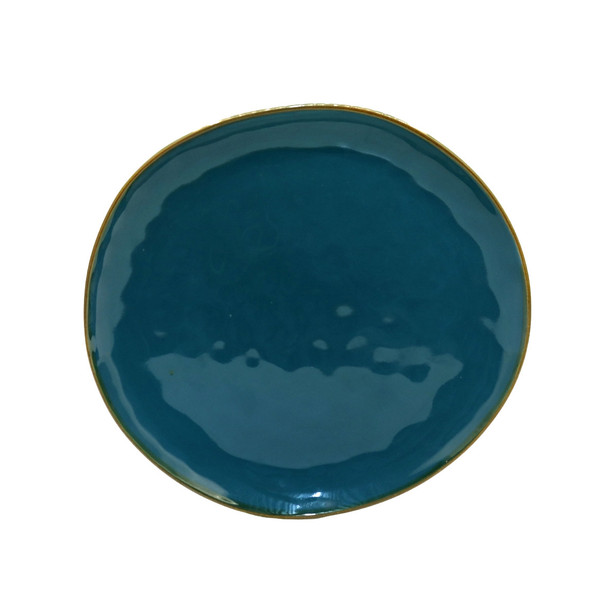 TM21ST0329114 Sea Blue Ceramic Dinner Plate