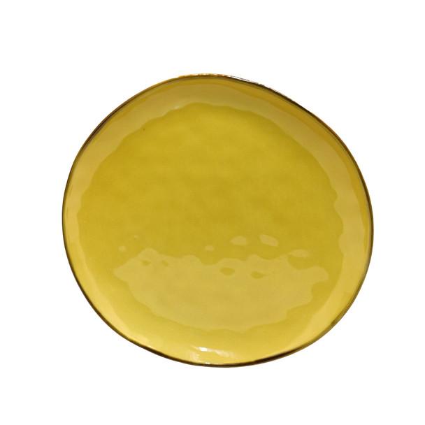 TM21ST0329114A Yellow Ceramic Dinner Plate