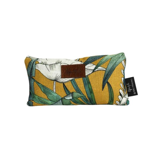12209BAG Linen Pencil Bag - Heavenly Saffron