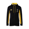 """Black and Yellow 2020 members hoodie. """"Tiger Army"""" on the left hand side and the Richmond Tigers logo on the right hand side with the text under """"member 2020""""."""
