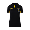 "Black 2020 members polo. ""Tiger Army"" on the left hand side and the Richmond Tigers logo on the right hand side with the text under ""member 2020""."