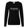 "A Black based long sleeve tee displaying ""Richmond Football Club"" across the chest."