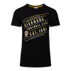 """A Black short sleeve Pyjama Tee with """"Richmond Football Club"""" displayed over three lines on an angle on the front, as well as displaying the club logo and establishment date below the writing towards the middle of the tee."""