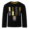 "A Yellow and Black long sleeve Pyjama Tee with ""Richmond"" displayed over two lines on the front, as well as displaying the club logo in the middle bottom of the tee."