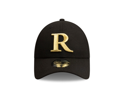 Gold embroaded thread outlining the Premiership Cup and Richmond's famous 'R', which is also adjustable and has a rounded peak cap.