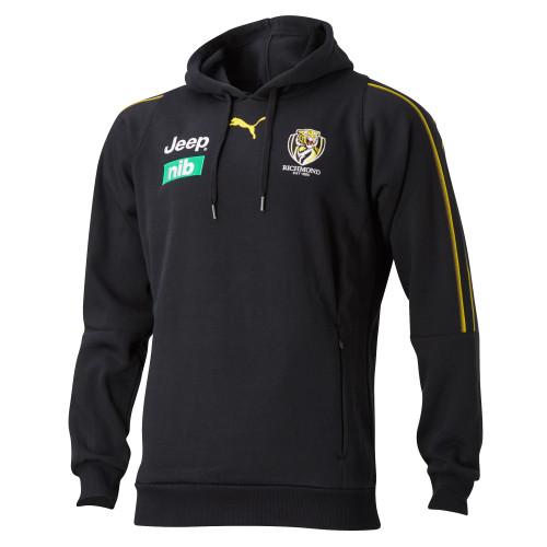 Black hooded jumper with 2020 RFC sponsors and RFC logo.