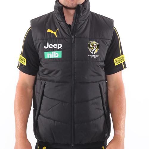 Black padded PUMA branded vest with 2019 RFC sponsors and RFC logo.
