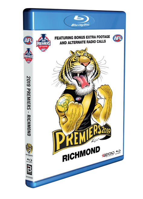 The 2019 AFL Grand Final Blu Ray includes every second of this years decider in high def between the Richmond Tigers and the GWS Giants.