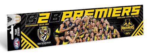 2020 Premiers celebration bumper sticker