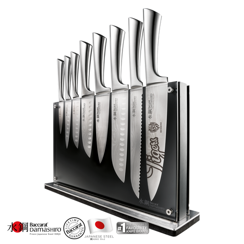 Baccarat Damashiro Nami Knife Block 9 Piece