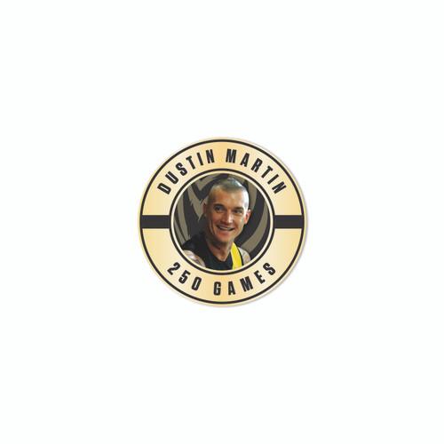 Dustin Martin 250 Games Lapel Pin