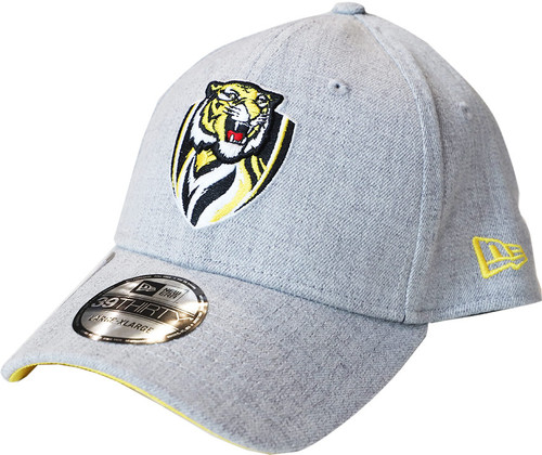 Light grey cap made by New Era. Bottom of the curved peak is yellow. Club logo on the front of the cap. Small yellow New Era logo on the side. Adjustable back.