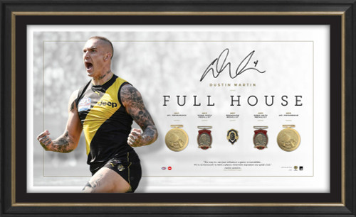 Richmond Tigers - Dustin Martin Signed Full House Lithograph
