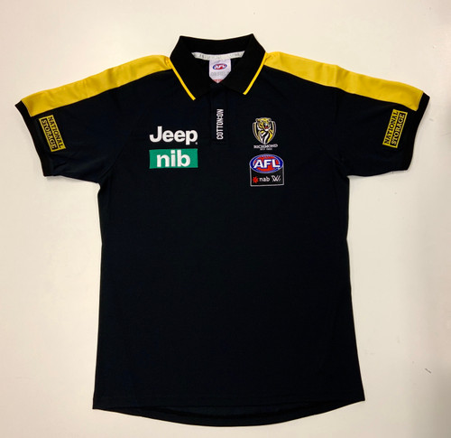 Richmond Tigers -  2020 AFLW Cotton On Mens Media Polo