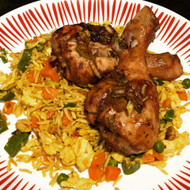 Jerk Chicken and Jamaican Fried Rice