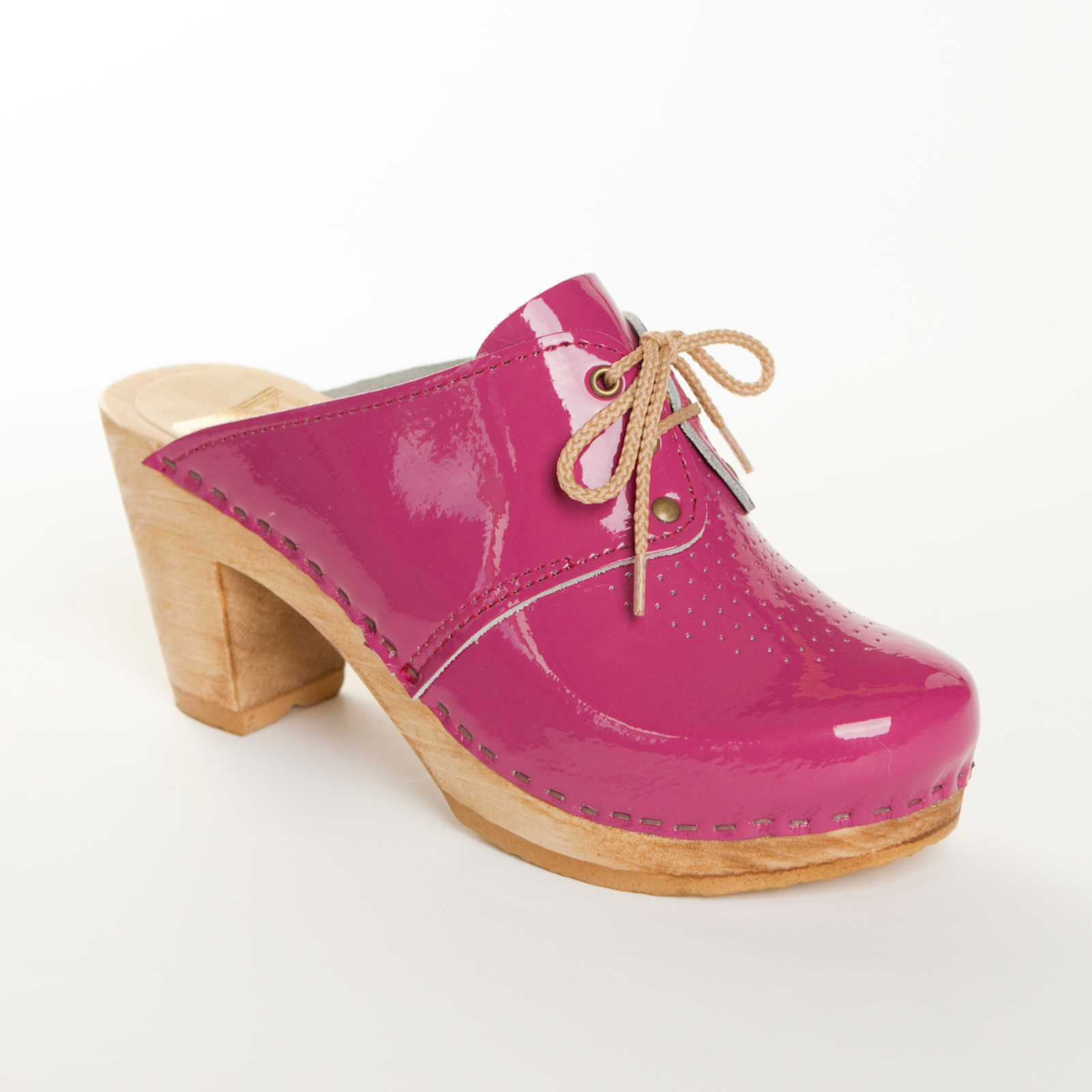 Magenta Patent Leather with Brown Base