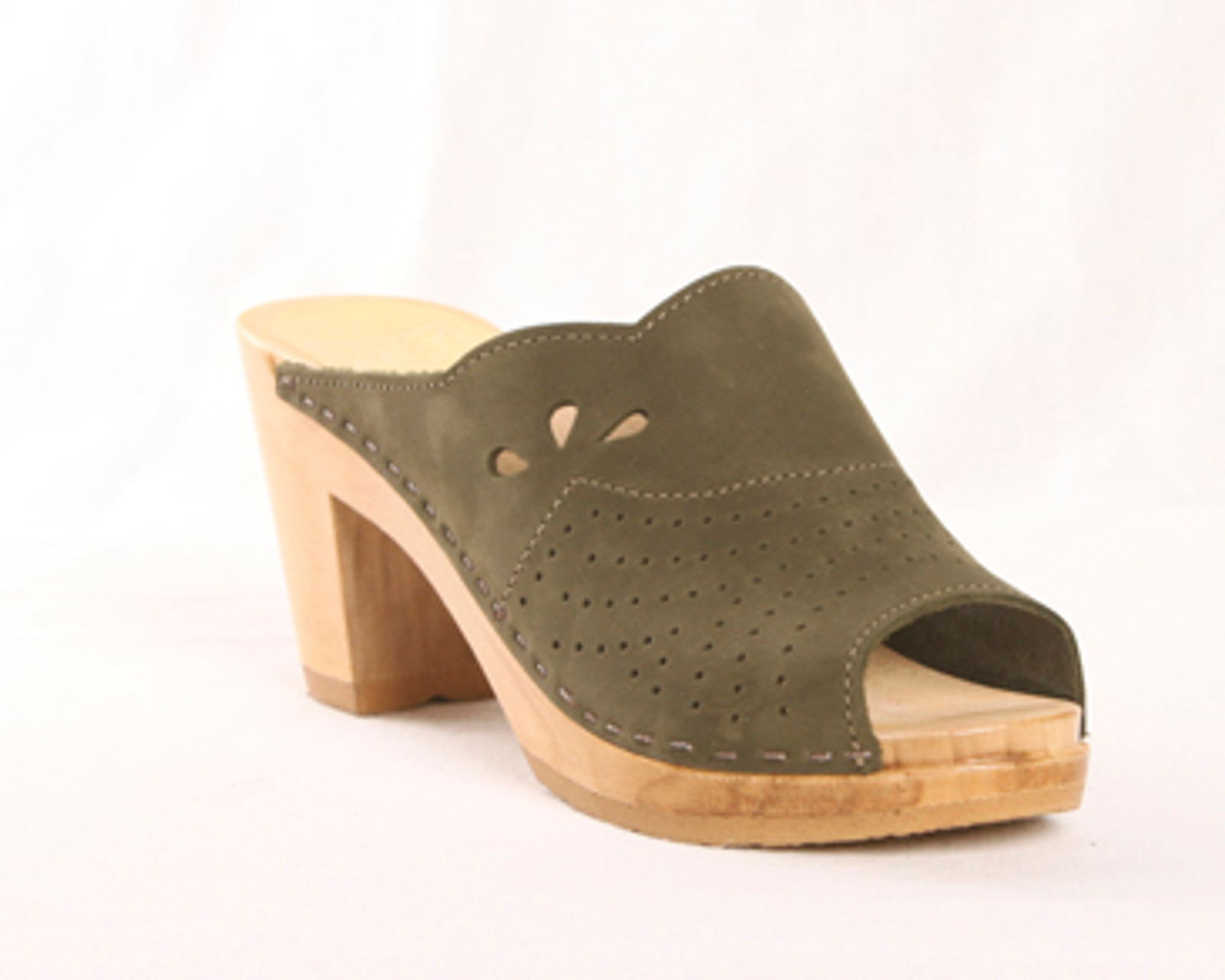 Olive Nu Buc with Brown Base